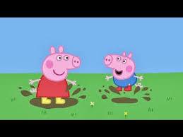 peppa pig cartoon mud puddle splash letter spelling video game