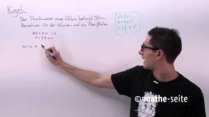 kugeloberfl che berechnen kugel berechnen kugelvolumen kugeloberfläche halbkugel