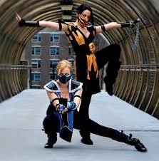 Scorpion Halloween Costume Mortal Kombat Cosplay Female Scorpion Female