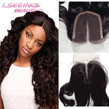 top closure free shipping 8a wave hair middle part lace