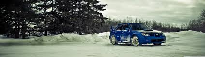 subaru sti winter 4k hd desktop wallpaper for u2022 dual monitor