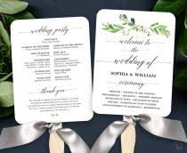 Fan Wedding Program Template Invitations U0026 Stationery 17 Weddbook