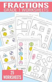 fractions worksheets for grade 1 easy peasy learners