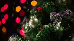 a christmas snow snow falling softly on christmas tree 1 stock footage