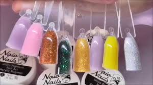 naio u0027s new glitter powder nail bed review absolute nails youtube