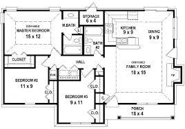 3 bedroom home plans 3 bedroom house plans 653626 3 bedroom 2 bath house plan less than