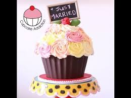 How To Decorate A Tin Decorate A Giant Cupcake Shabby Chic Rose Bouquet Design A