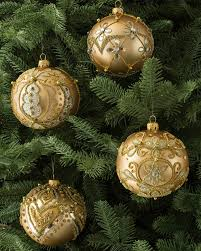 set of 4 decorated glass ornaments balsam hill