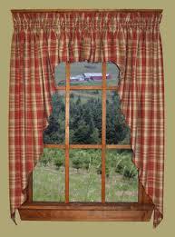 Primitive Swag Curtains Primitive Homestead Plaid Swag Country Curtains Favorite Places