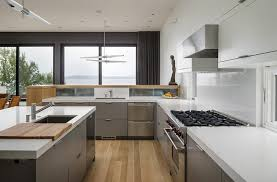 architecture modern contemporary kitchen with white caesarstone