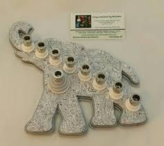 elephant menorah judaic made items