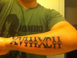 Numerals On Forearm Forearm Tattoos Search Ideas Forearm