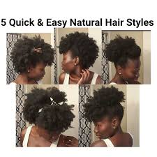 5 quick u0026 easy natural hair styles short medium length hair