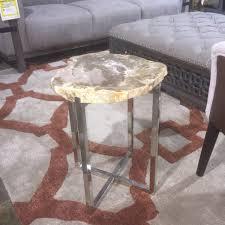 petrified wood end table dining table atlanta live edge table ga live edge dining table