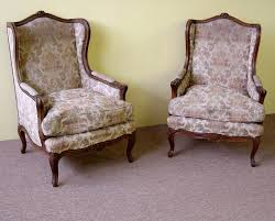Beige Wingback Chair Furniture How To Reupholster A Wingback Chair With Beige