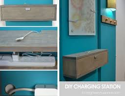 Wall Mounted Bookshelves Diy by Remodelaholic Get Rid Of Cord Clutter With These 25 Diy Charging
