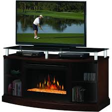 dimplex windham 53 inch electric fireplace media console glass