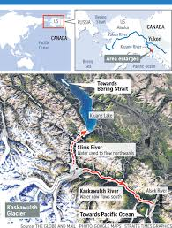 Time Change Map Climate Change Reroutes River In Canada U0027abruptly U0027 World News
