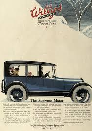 car advertisement snow scene willys knight car advertisement sleeve valve motor