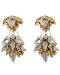 gold earrings online deepa gurnani shirina gold earrings online jewelry boutique
