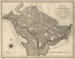 Maps Of Washington Dc by Washington Dc 1793 Map Showing Fan Plan Like Karlsruhe