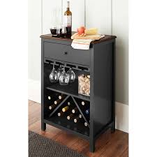 amazon com chatham house baldwin wine cabinet in black holds 16