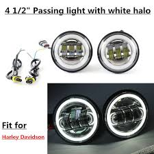 harley davidson auxiliary lighting kit online shop 2pcs 4 5inch led motorcycle headlight fog light white