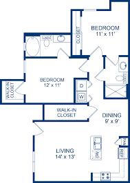 Bedroom Blueprint by 1 2 U0026 3 Bedroom Apartments In Cedar Park Tx Camden Brushy Creek