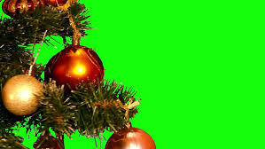 balls and gifts loop green and gold baubles and