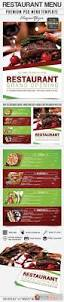 restaurant menu u2013 premium flyer psd template free download