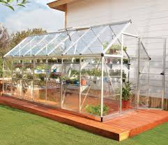 Palram Polycarbonate Greenhouse Palram Harmony 6x14 Greenhouse In Silver Gardensite Co Uk