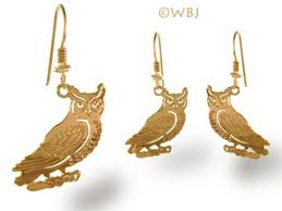 owl earrings owl earrings jewelry gold curve at animal world