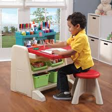 Flip Doodle Easel Desk With Stool Kids Art Desk Step2
