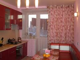 kitchen design apple print fabric kitchen panel curtain smart homes
