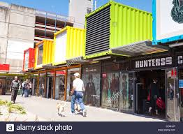 shopping mall made from shipping containers in central