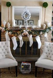 White Christmas Decorations by Astonishing Fireplace Mantel Christmas Decoration Quecasita