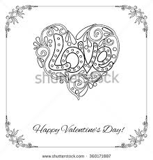 elements happy valentine u0027s card love heart frame