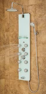 pulse 1030 showerspas white glass shower panel lahaina shower