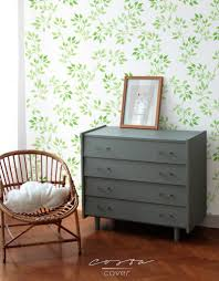 Watercolor Wallpaper For Walls by Green Leaves Wall Paper Removable Blooming Spring