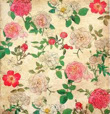 floral vintage wallpaper for background stock photo picture and