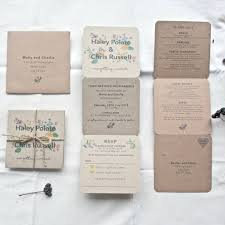 tri fold wedding invitations floral tri fold wedding invitation by paper and inc