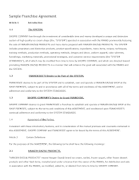 Child Support Contract Template Franchise Contract Template Freewordtemplates Net