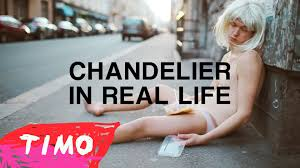 Youtube Chandelier Chandelier In Real Life Sia Acoustic Cover Video Youtube