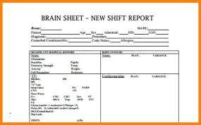 Shift Report Sheet Template 9 Nursing Shift Report Sheet Exles Conapid