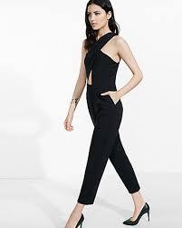 express black jumpsuit black crisscross front jumpsuit express