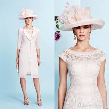 2016 lace sheath cap sleeves mother of bride dresses with jacket