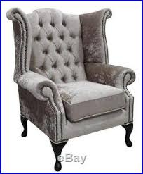 dining room chairs chesterfield queen anne high back fireside