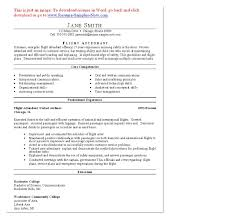Resume For Child Care Job Entry Level Flight Attendant Resume Resume For Your Job Application