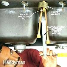 installing kitchen sink faucet fascinating sink faucet taxmgt me replacing kitchen