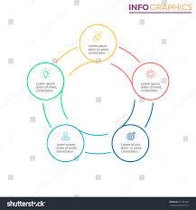 outline circular infographic minimalistic diagram chart stock outline circular infographic minimalistic diagram chart graph with 5 steps vector design
